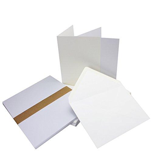 Einladungskarten inklusive Briefumschläge & Einlegeblätter   25er-Set   Blanko Klapp-Karten in Hochweiß   bedruckbare Post-Karten in DIN B6 Format   speziell zum Selbstgestalten & Kreieren