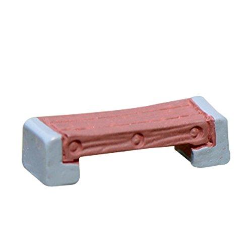 LAMEIDA Mini Bank Minipuppenzubehör Aussattung Möbel Garten Miniatur Möbel 1 Stück