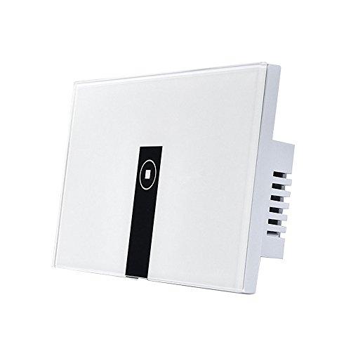 SODIAL Per Alexa WiFi Smart Light Switch, Interruttore a parete on/off wireless a parete, temporizzazione, telecomando per app vocale, compatibile con Alexa