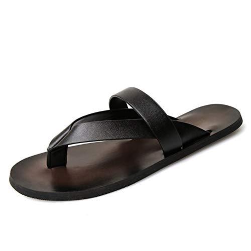 Männer Flip Flops Slip On Hausschuhe Outdoor Casual Strand Schuhe Sommer Leder Clip Toe Schuhe T-Riemen Beitrag Thongs Flache Sandalen
