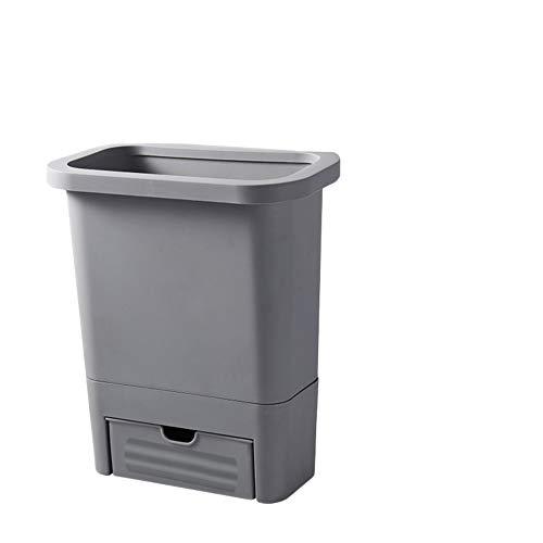 Wand Montiert Haushaltsmülleimer,plastik-naillessach-wastebasket Mit Schublade-anti-leckage-garbage Can Für Bad Office Küche-grau 3.2gal(12l) -