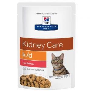 Hill's Prescription Diet Feline k/d mit Lachs 24 x 85g (Doppelpack) -