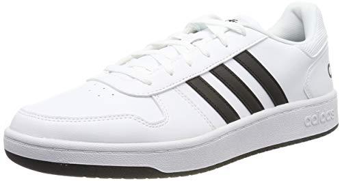Adidas-basketball-schuh Weiß (adidas Herren Hoops 2.0 Basketballschuhe, Weiß Negbás/Ftwbla 000, 44 2/3 EU)