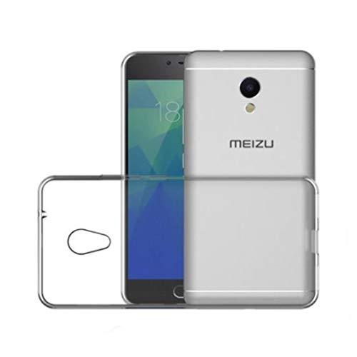 Todo Phone Store Pack x2 [1 Vetro Standard + 1 Custodia Cover 100% Trasparente] - 1 Proteggi Schermo Antiurto Vetro Temperato 9H + 1 Custodia Cover Silicone Gel TPU Liscia per MEIZU M5S