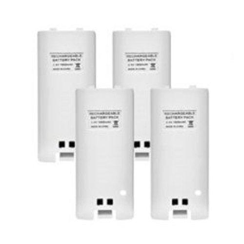 TOOGOO(R) 4 x wiederaufladbare Akku und Quad 4 Ladegeraet Dock Station Ausstattung fuer Wii Fernbedienung weiss - Wii-akku-station