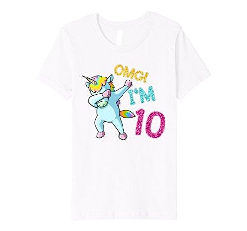 Kinder 10 Yrs Old Girl Dabbing Unicorn