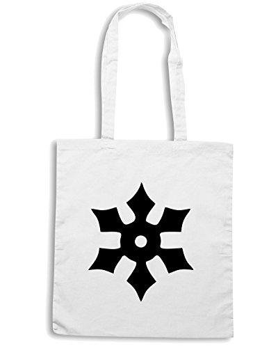 T-Shirtshock - Borsa Shopping TM0492 stella ninja Bianco