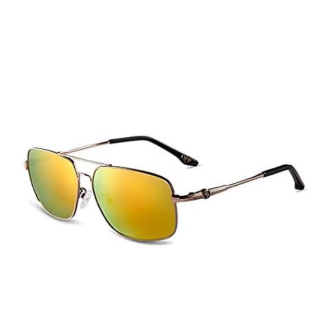 OPP Men's Glasses Metal Frame TAC Polarized Lens Sunglasses