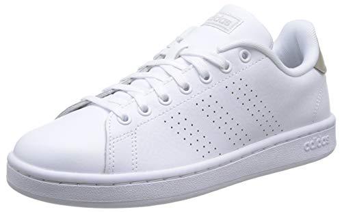 Adidas advantage, scarpe da fitness donna, bianco ftwbla/gridos 000, 38 eu