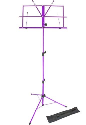 Lawrence LMS02-PU Notenständer (klappbar, verstellbar, Metall, mit...