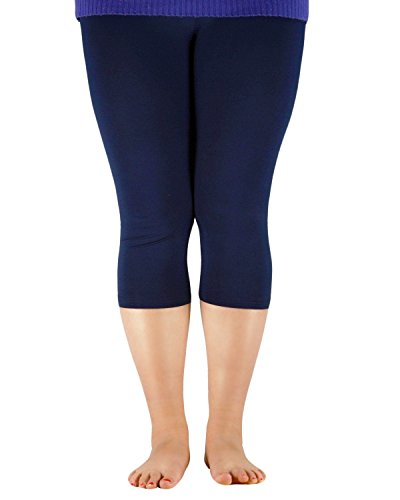 Azue Damen Leggings Gr. XXXXX-Large, navy (Flag Thermal-shirt)