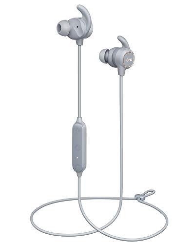 AUKEY Bluetooth Kopfhörer, Key Series Bluetooth 5 Sport In Ear Kopfhörer mit Smart Switch, Wasserfestigkeit IPX6, 8 Stunden Akkulaufzeit und Mikrofon für Fitness, Training und Joggen Bluetooth-serie
