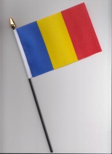 Drapeau Roumanie à main 25 cm