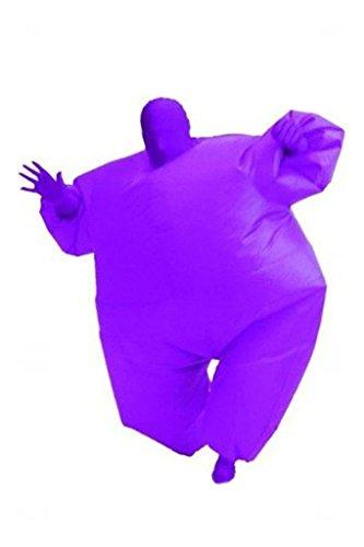 Erwachsene Size aufblasbar Cosplay Kostüm Ganzkörper Jumpsuit Lila (Fußball Kostüm Aufblasbare)