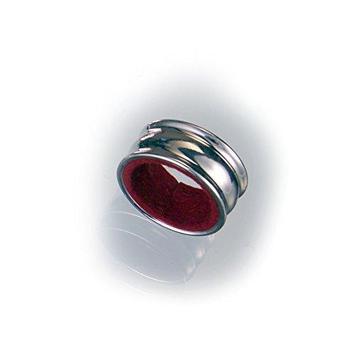 Raddi Argenterie Tondo Tropfenfänger aus Silber, mit Samt gefüttert, Durchmesser: 4cm