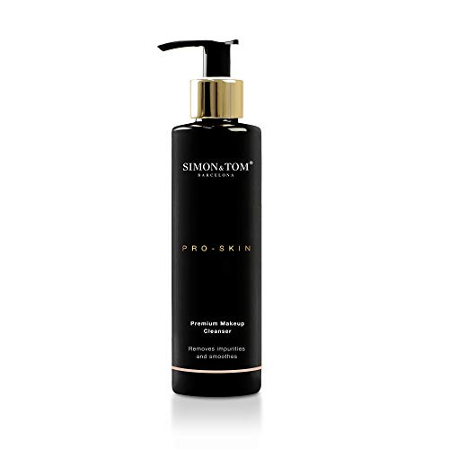 Simon & Tom PRO SKIN - WHITENING - Gesichtsreinigungsmilch, Premium Make-up Entferner, Entfernt Unreinheiten und hellt Unreinheiten auf, gleichmäßiger und strahlender Teint, 200ml - Cleansing Milk Facial Cleanser