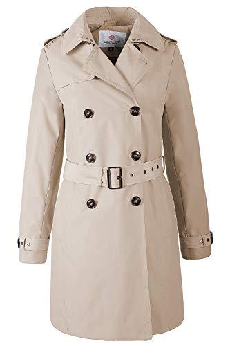 Grimada F3773 Damen Mantel Trenchcoat Melisa (M, beige)