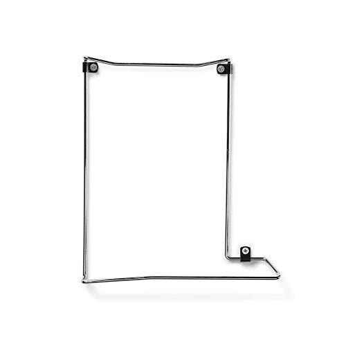 Borangame Filo PS4 Wandhalterung - Schwebendes Regal für Playstation 4 - Halter-Zubehör für Gaming-Schreibtisch -Zimmer - Anti-Kratzer-Clips, Chromgehäuse, einfache Montage - Made in Italien