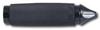 Pedaline avon in gomma e nero per harley davidson sportster, softail, dyna, touring e custom