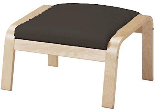 Custom Slipcover Replacement Dense Cotton Poang Fußbank Abdeckung Ersatz ist nach Maß für Ikea Poang Stuhl Ottoman Slipcover. Dunkelgrau Cotton