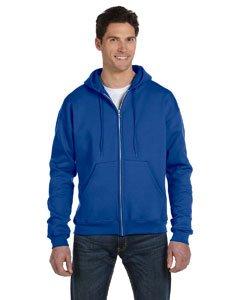 Champion Double Dry Eco Fleece Full Zip Hood, M-Royal Blue Fleece Full Zip Hood