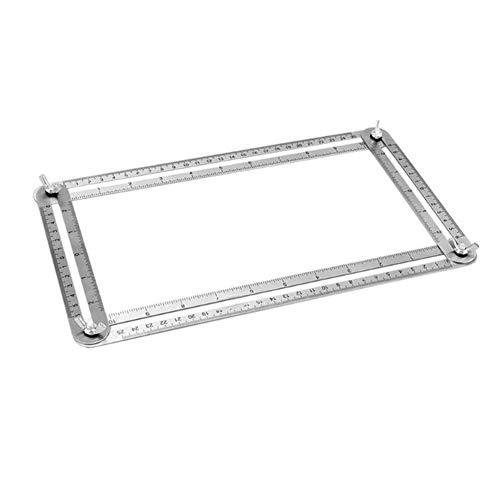 Ndier pratico quattro lati righello in acciaio inox angleizer multi-angolo righello multifunzione modelli di misurazione commercio industria e scienza