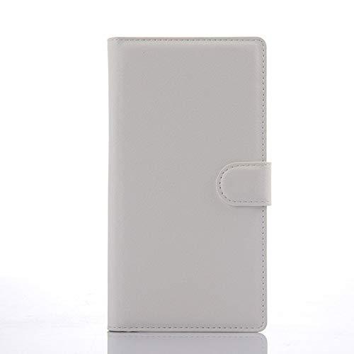 Dulaxie - Für Wiko Ridge Fab 4G Fall-Mappen-Art PU-Leder Etui für Wiko Ridge Fab 4G mit Standfunktion und Kartenhalter [weiß] (Weißes Iphone 4 Case Otterbox)
