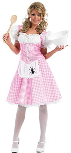 Dorothy Kostüm Lange - Fancy Me Damen Längere Länge Kleiner BO Peep Rotkäppchen Dorothy Goldlöckchen Miss Muffet Maskenkostüm UK 8-26 Übergröße - Miss Muffet, UK 20-22