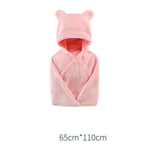 Tier Kapuze Baby-Handtuch Waschlappen Ultra Soft und Extra Large, 100% Baumwolle Bademantel for Groß Kind/Neugeborenes Dusche Geschenk for Jungen oder Mädchen (0-4 Jahre) (Color : Pink)
