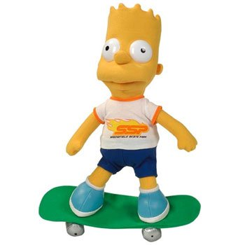 "Bart Simpson on Skateboard 31cm 12"""