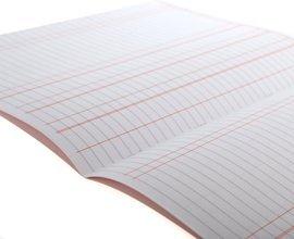 Haushaltsbuch mit 3 Spalten, A4, 32 Seiten, englischsprachig