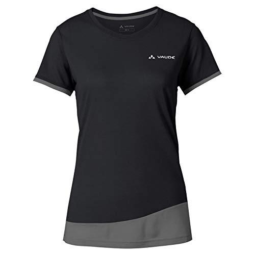 VAUDE Damen Women\'s Sveit T-Shirt, Black Uni, 46