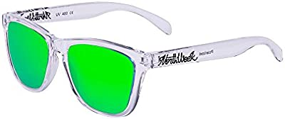 Northweek Regular Bright White - Green Polarized - Gafas de sol unisex, transparente