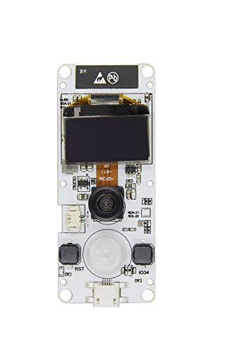 DollaTek ESP32 T-Kamera ESP32 WROVER PSRAM-Kameramodul 4MBytes SPRAM ESP32-WROVER-B OV2640-Kameramodul mit 0,96-Zoll-OLED-Fischaugen-Objektiv