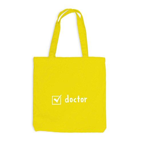 Jutebeutel - Check Doctor - Doktor Checkbox Gelb