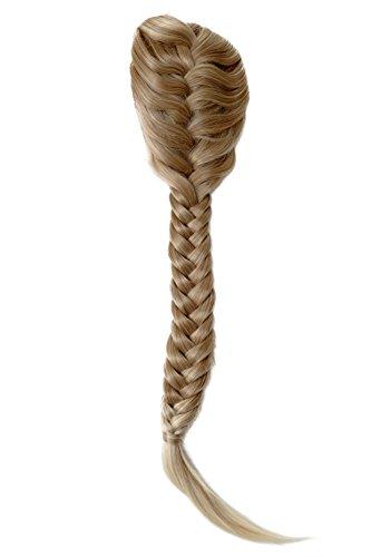 WIG ME UP - NC006-15BT613 Haarteil geflochtener Zopf Pferdeschwanz sehr lang Klammer Kämme Gummizug Tracht Blond Mix