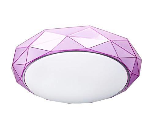 Minimalistische Moderne Runde LED Deckenleuchte Lila,deckenleuchte wohnzimmer,deckenleuchte schlafzimmer,deckenleuchte modern. -