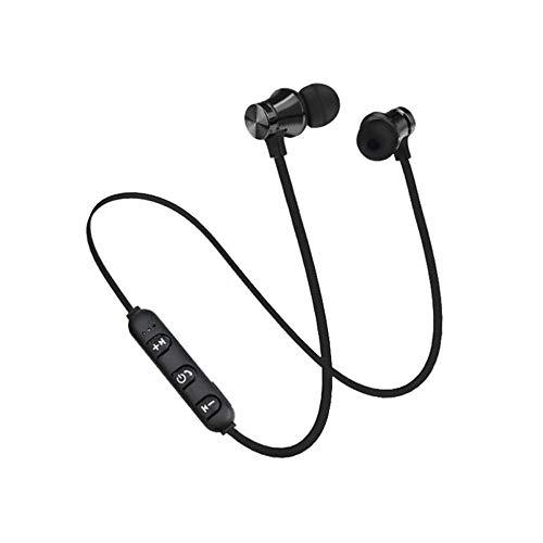 SO-buts BT 4.1 Bluetooth Kopfhörer, Magnetischer Earphones, In Ear Kopfhörer mit Mikrofon,Sport Kopfhörer für Android Smartphones, iPhone, Xiaomi,Samsung Galaxy, HTC,Huawei (Schwarz) (Sony Cd Es Player)