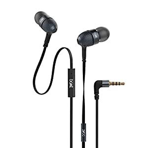 boAt Bassheads 225 in Ear Wired Earphones with Mic(Black)