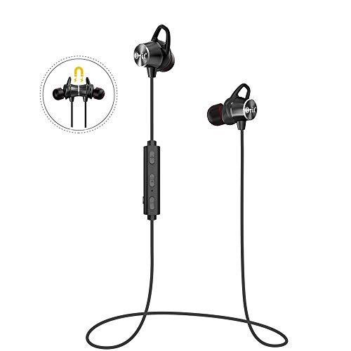 Bluetooth Kabellos Kopfhörer Sport InEar Ohrhörer Magnetisches Earbuds HD Stereo Sound 9 Stunden Spielzeit CVC6.0 Rauschunterdrückung Bluetooth Headsets mit Mic für IOS/Android