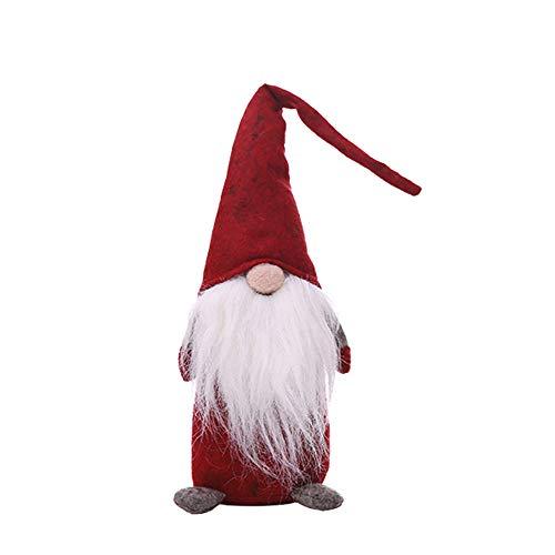 Weihnachts Deko,Wawer 42cm / 27cm handgemachte Plüsch Gnome schwedische Puppen Figuren Fenster Dekoration Urlaub Dekoration Geschenke (Rot, ()