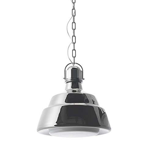 Diesel With Foscarini Glas Grand Lampe Suspendue Chromée