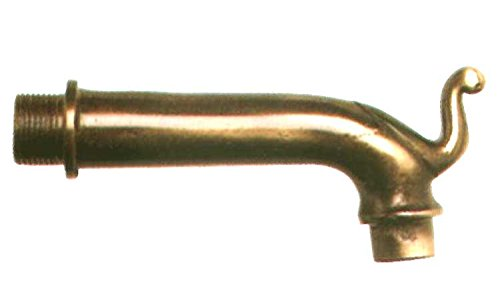 Grifo de fuente con 0125A en latón, diseño antiguo