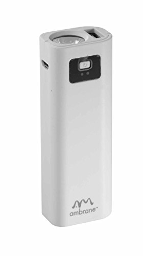 Ambrane Power Bank P-202 (2200mAh) White  available at amazon for Rs.299