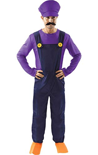 ORION COSTUMES Bad Plumber's Mate Costume - Karneval - Lila Fancy Dress Kostüm