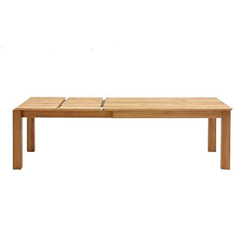 Esstisch Eiche massiv ausziehbar 160 - 260 x 100 cm Tisch Ausziehtisch Küchentisch Massivholztisch Tisch ausziehbar 160x100 Butterfly