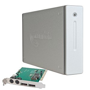 "3.5inch AcomData E5 eSATA Aluminum External SATA RAID HDD Enclosure w/SATA PCI Card(Desktop hard disk casings,3.5"" hdd case,internal hard disk casing,online,3.5"" hard drive enclosure))"