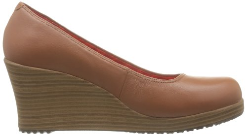 Crocs A-Leigh Closed Toe Wedge, Espadrilles femme Marron (Cinnamon/Walnut)