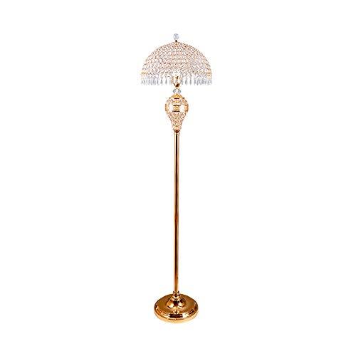 Wxx000 Cristal Europeo lámpara de pie Dormitorio Sala de Estar Simple Moderna Creativa Americana IKEA lámpara de pie Junto a la Sala de Lectura (Color : D+E)
