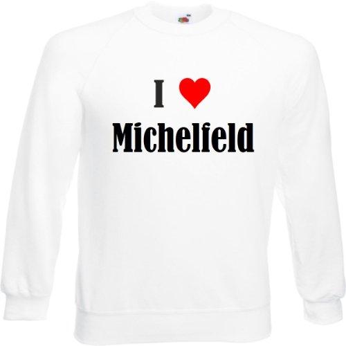 Reifen-Markt Sweatshirt I Love Michelfeld Größe 2XL Farbe Weiss Druck Schwarz